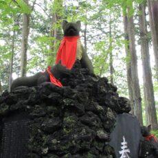 三峯神社の御眷属は狼。境内の至る所にある神犬像